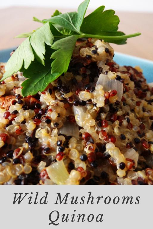 vegan wild mushrooms quinoa recipe
