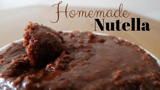 Homemade vegan refined sugar free and dairy free nutella