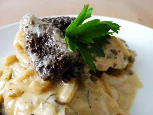 Chicken with morel sauce recipe
