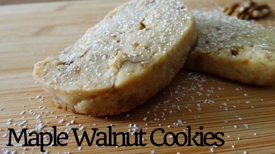 vegan maple walnut shortbread cookies