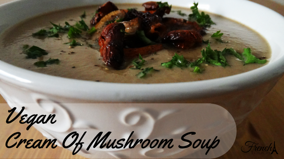 Vegan cream of mushroom soup recipe