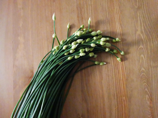 chive blossoms stir fry