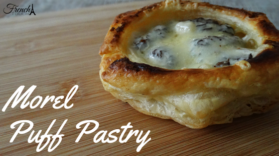 morel puff pastry appetizer recipe