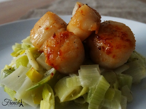 scallops on leeks fondue recipe