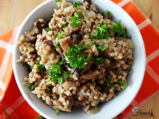 mushrooms and buckwheat porridge recipe
