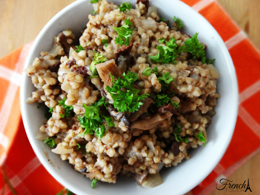 mushrooms and buckwheat porridge recipe