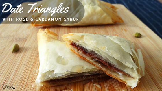 date filo pastry triangles