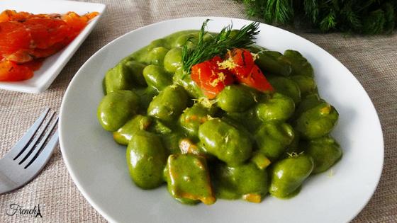 salmon and spinach gnocchi recipe